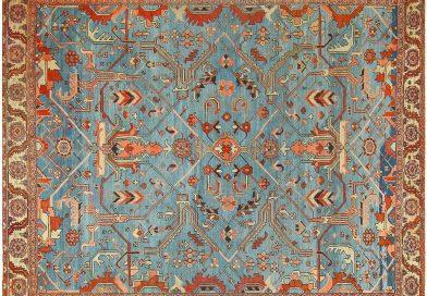 四角いペルシャ絨毯
